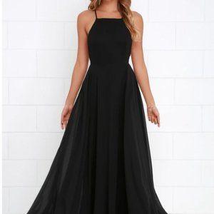 Lulu's MYTHICAL KIND OF LOVE BLACK MAXI DRESS